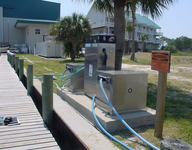 Marina Fueling Pump with Signage