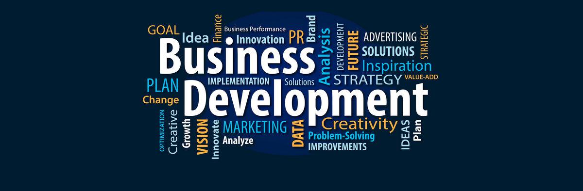 Business Development Words Banner
