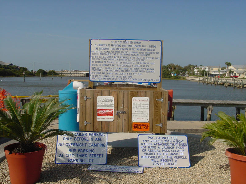 Signage at Cedar Key Marina