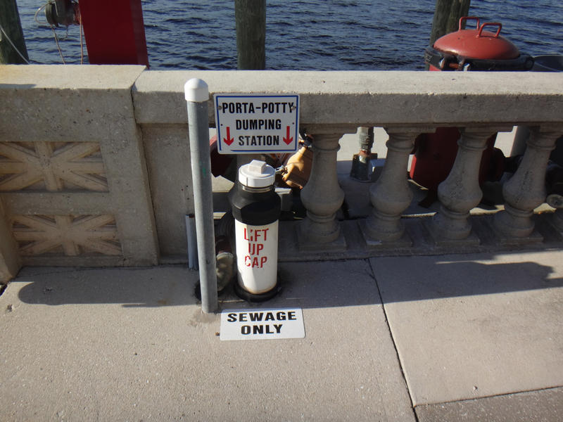 Dumping station at City of Ft. Myers Yacht Basin