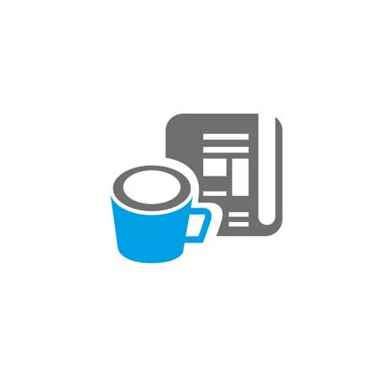 Coffee and Newspaper Icon