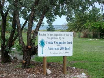Florida Communities Trust-DEP Staff-Preservation 2000 funding sign example
