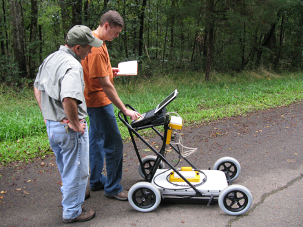 Florida-Geological-Survey_DEP-Staff_GPR-Testing-2009