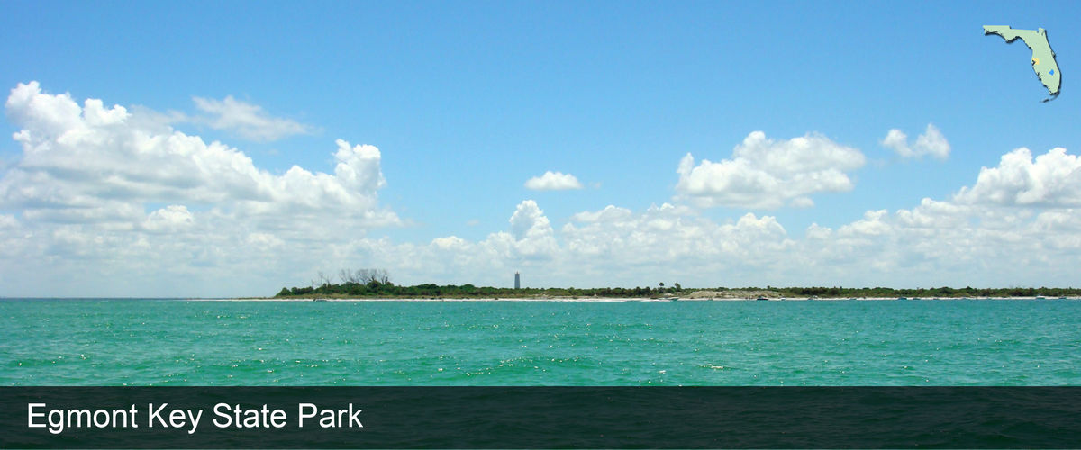 Looking across the water at Egmont Key in Hillsborough County, Florida