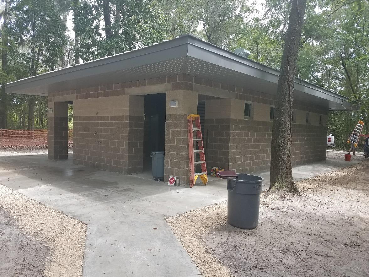Completion of the restroom construction at Ichetucknee Springs State Park