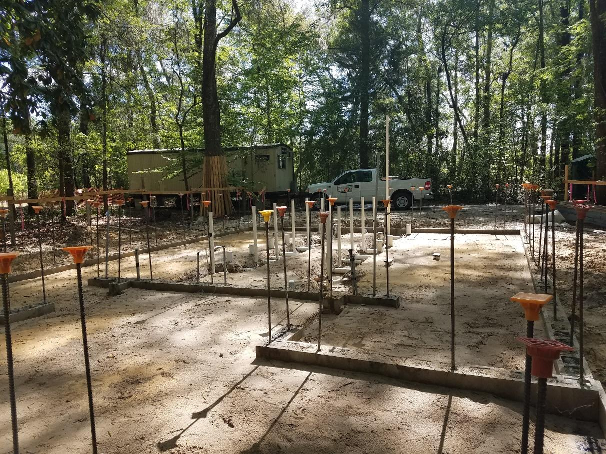 Restroom replacement foundation-footprint construction at Ichetucknee Springs State Park