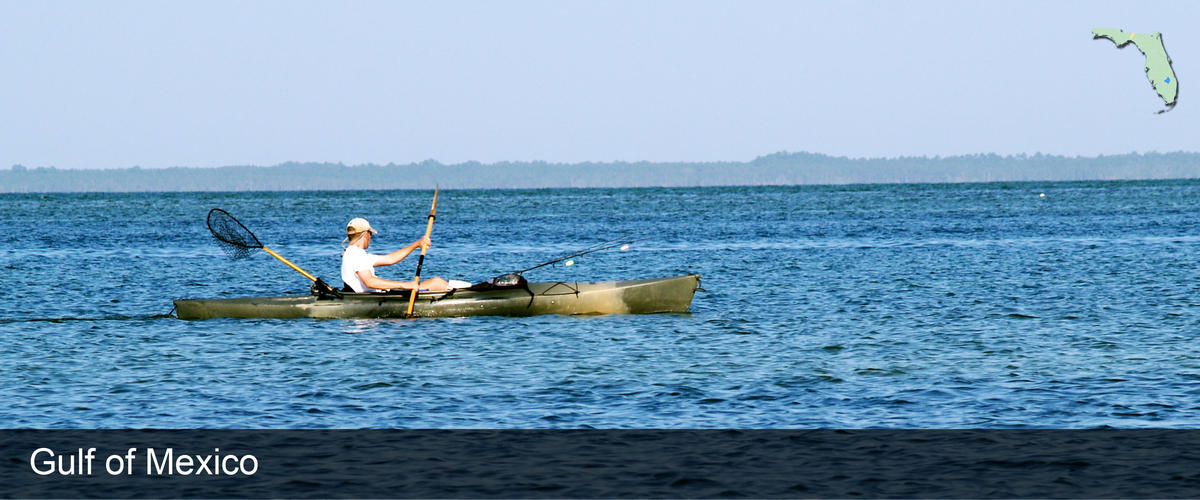 Kayaking on the Gulf of Mexico in Jefferson County, Florida