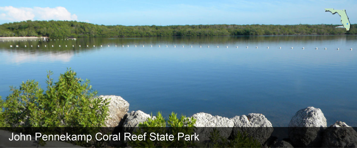 Swimming area at John Pennekamp Coral Reef State Park in Monroe County, Florida
