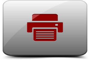 Red icon of document being printed