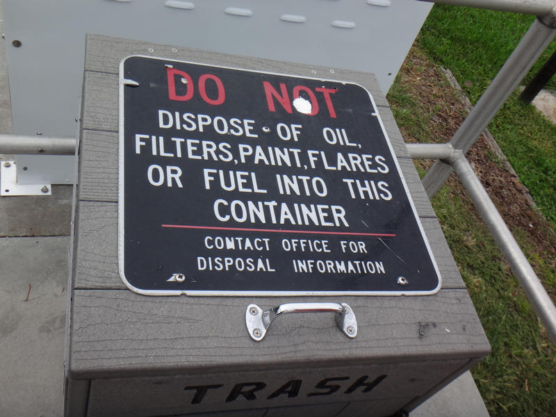 Labeled trash disposal at City of St. Augustine