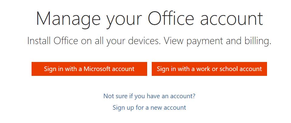 Manage Account
