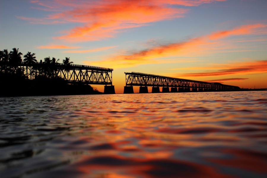 Bahia Honda State Park - Sunset over the bridge
