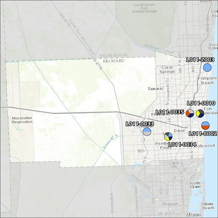 Broward County Air Monitoring Map