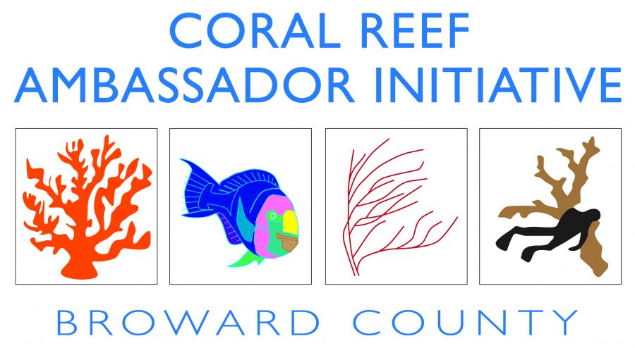 The official logo for the Coral Reef Amabassador Initiative, Broward County Florida.The official logo for the Coral Reef Amabassador Initiative, Broward County Florida.