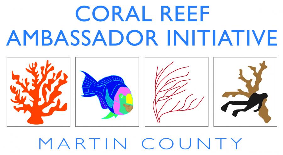 The official logo for the Coral Reef Ambassador Initiative, Broward County Florida.