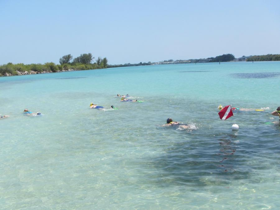 The turquoise waters near Gasparilla Pass are a great place to snorkel in Gasparilla Sound-Charlotte Harbor Aquatic Preserve.