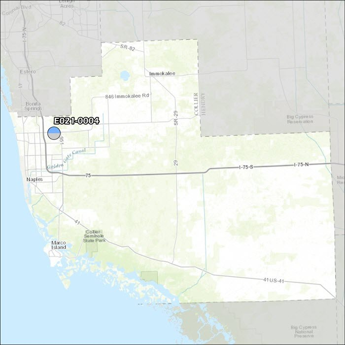 Collier County Air Monitoring Map