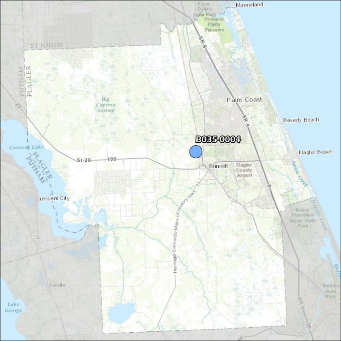 Flagler County Air Monitoring Map