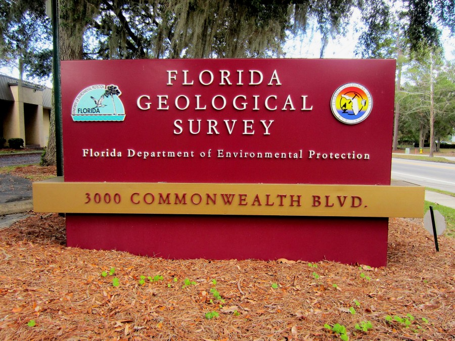 Florida Geological Survey - Signage at 3000 Commonwealth Blvd Tallahassee, Florida