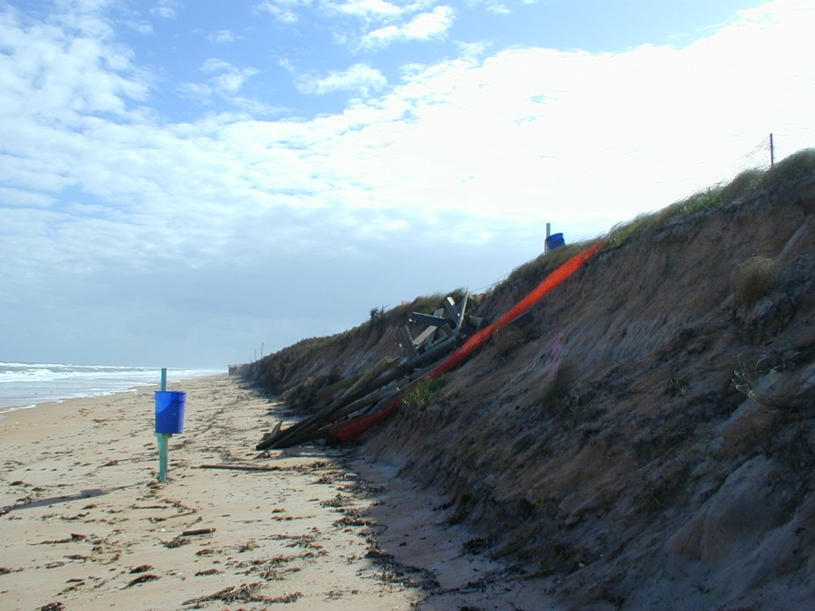 Florida Geological Survey Damage from Beach Erosion in Volusia County, 2004