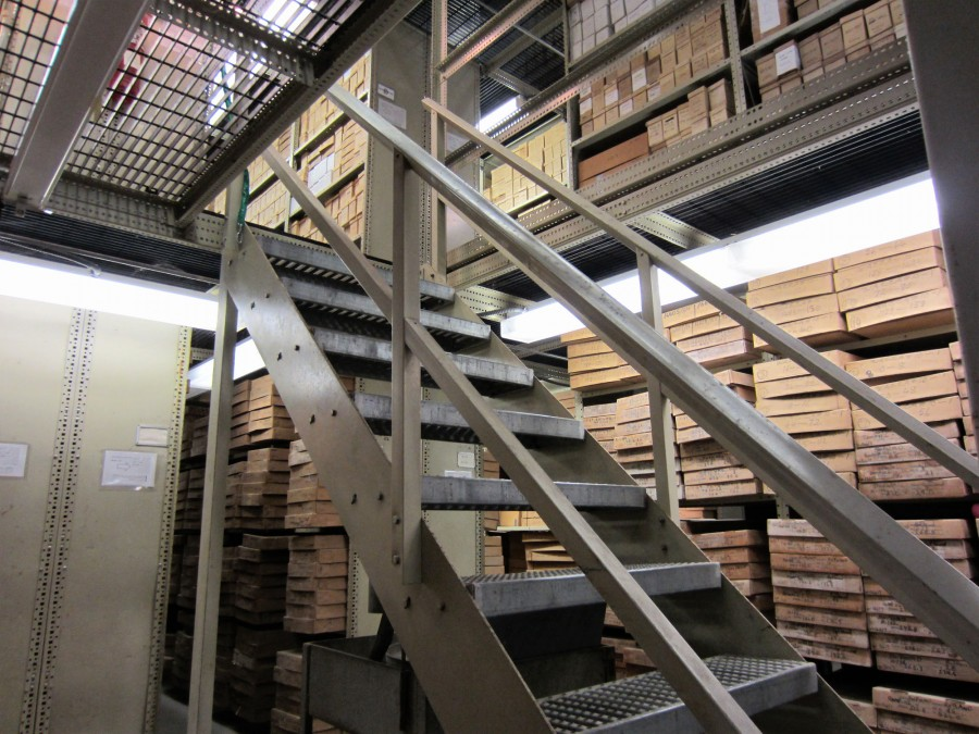 Florida Geological Survey Repository Interior, Shelving in Main