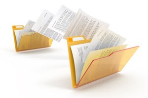 Folder Envelopes exchanging documents