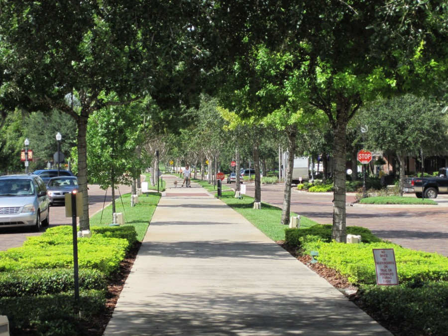 Downtown view of the West Orange Trail in Winter Garden Florida