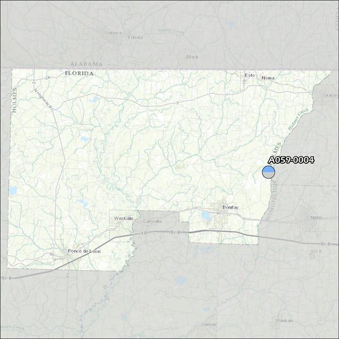 Holmes County Air Monitoring Map