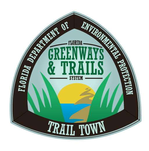 Official Trail Town logo Florida Greenways and Trails System