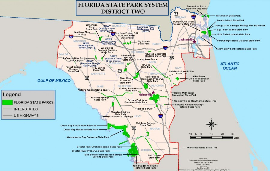 Florida State Parks District 2 Map