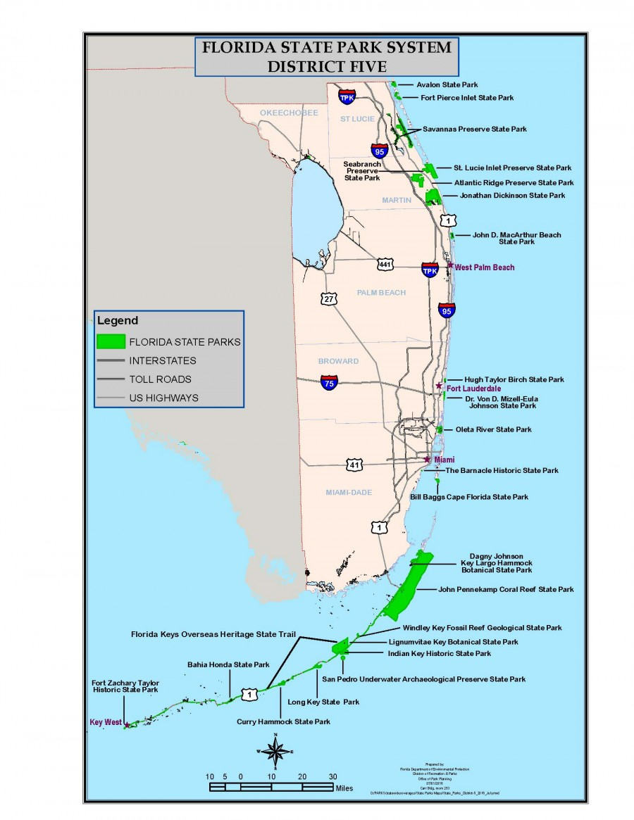 Florida State Parks District 5 Map