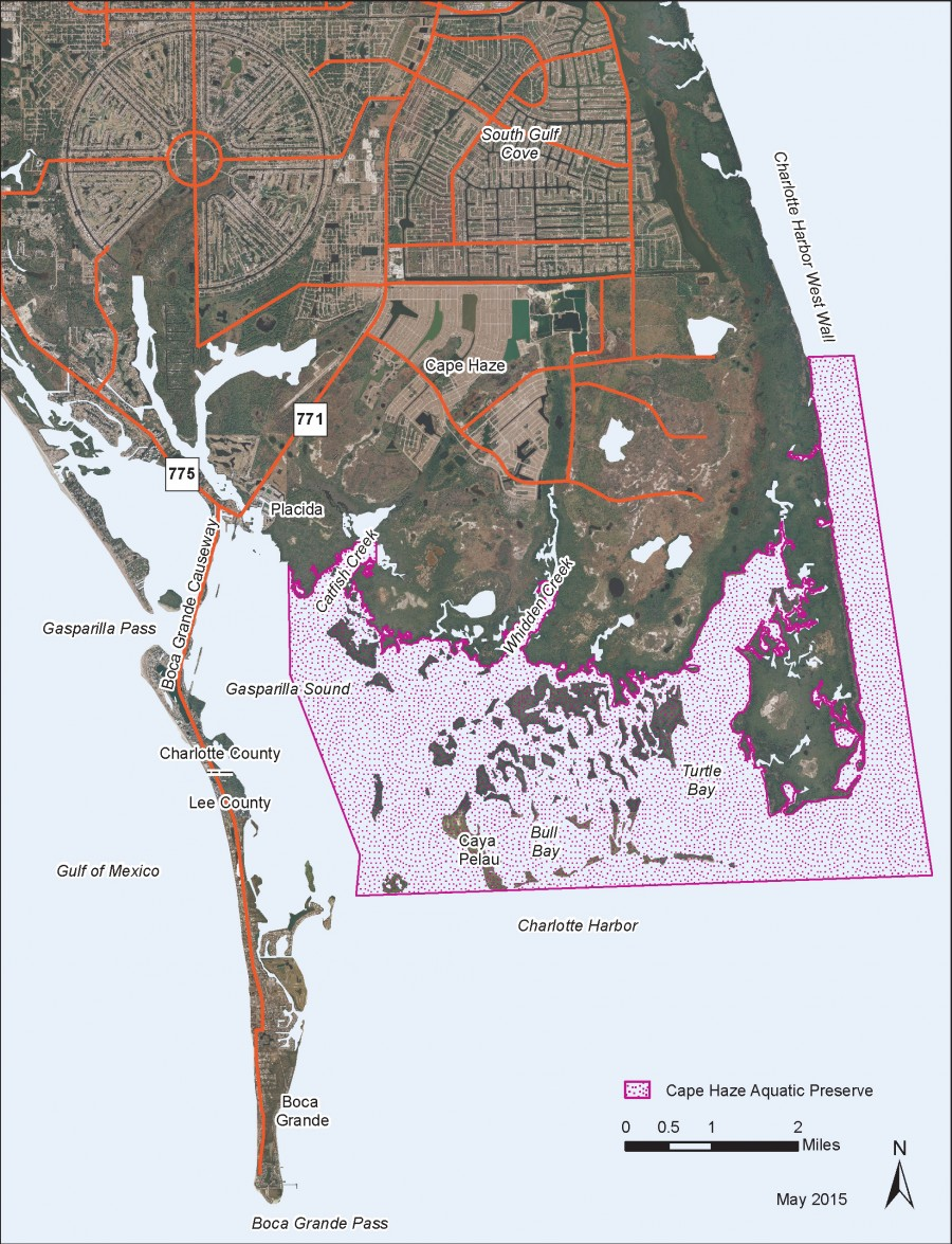 Cape Haze Aquatic Preserve map.