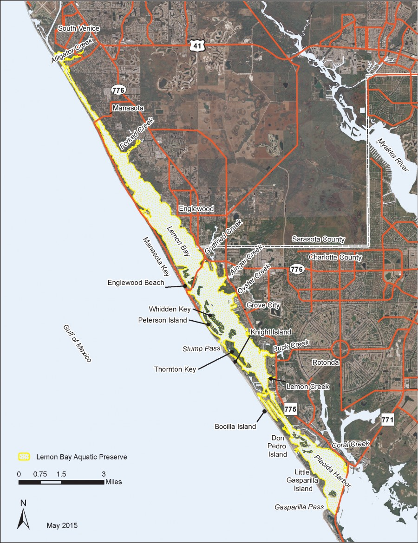 Lemon Bay Aquatic Preserve map.