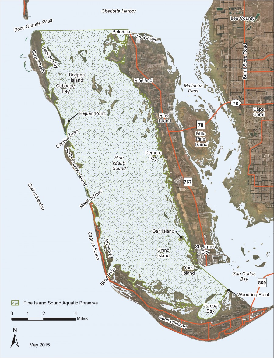 Pine Island Sound Aquatic Preserve map.