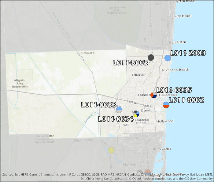 Broward County Air Monitoring Map