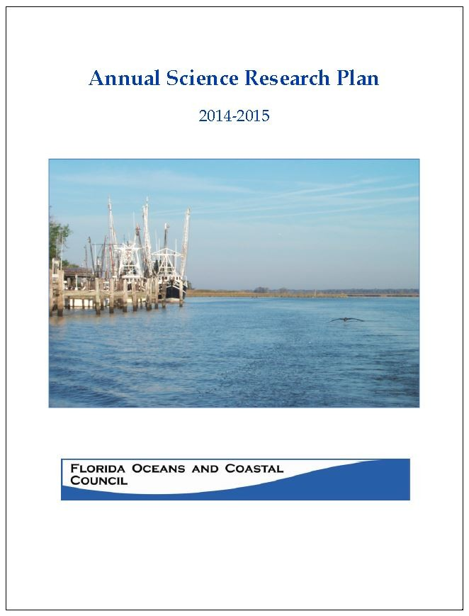 Front cover of an update of the effects of climate change on Florida's' Ocean and Coastal resources based on sea level rise