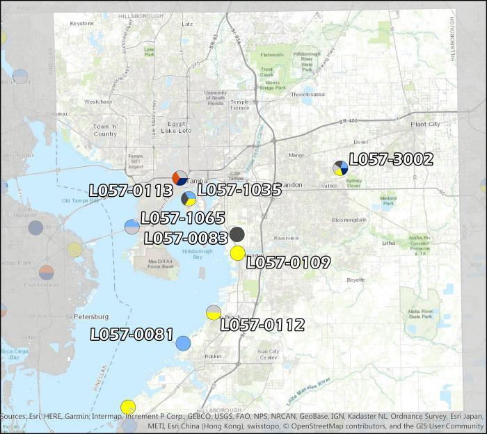 Hillsborough County Air Monitoring Map