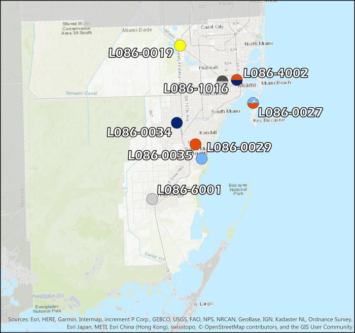 Miami-Dade County Air Monitoring Map
