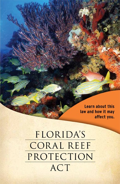 Coral Reef Protection Act Brochure cover