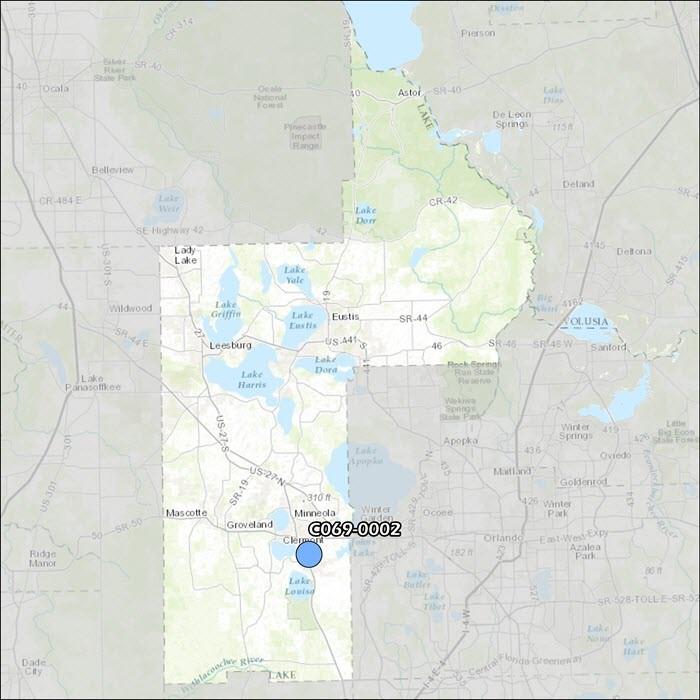 Lake County Air Monitoring Map