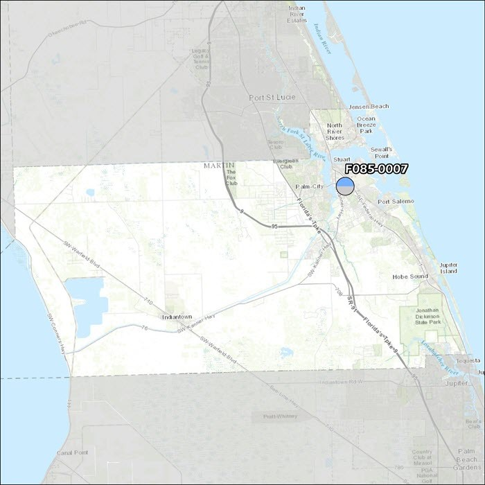 Martin County Air Monitoring Map