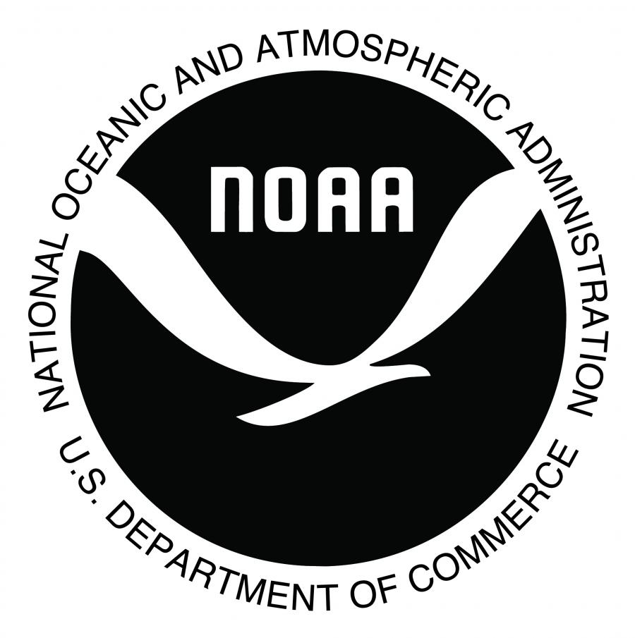 NOAA black and white official logo