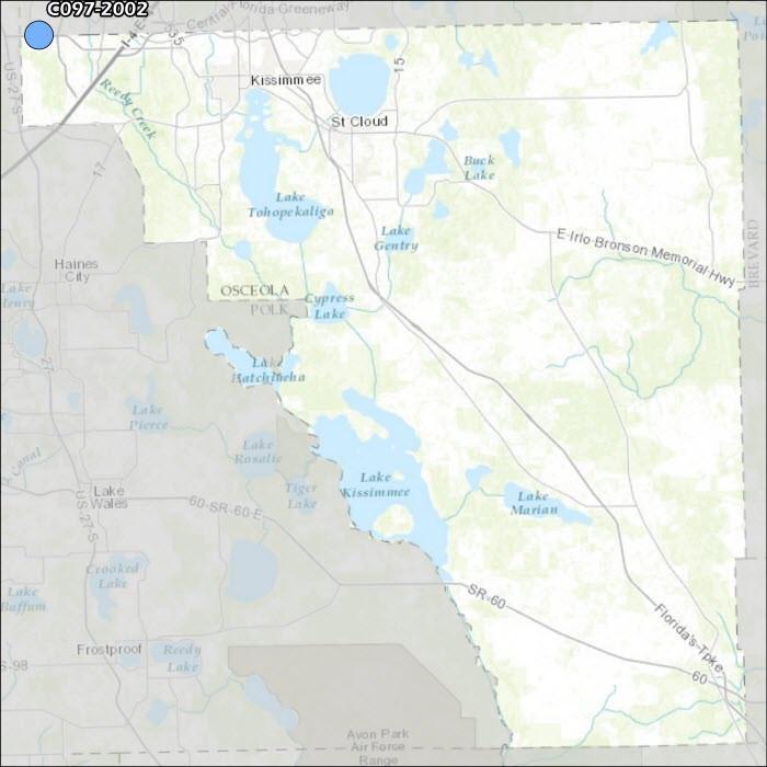 Osceola County Air Monitoring Map
