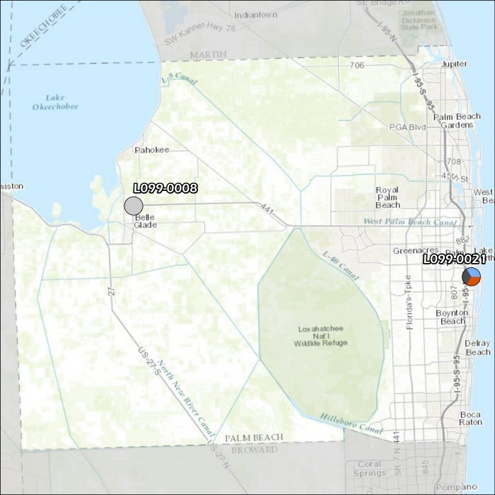 Palm Beach County Air Monitoring Map