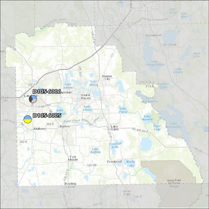 Polk County Air Monitoring Map