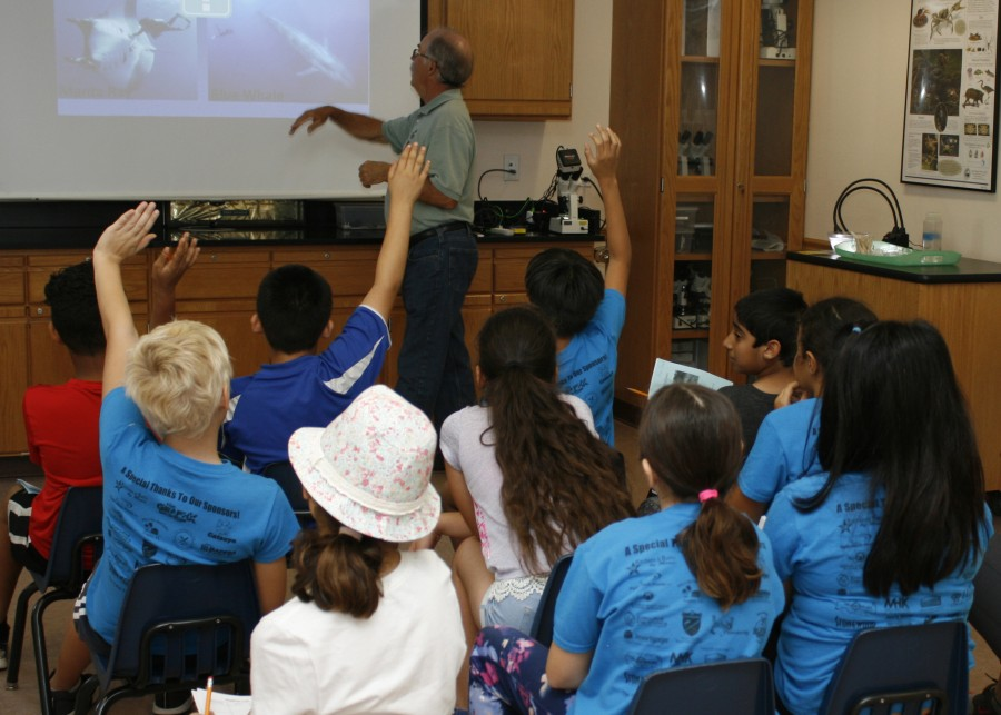 Fourth grade class at Environmental Learning Center