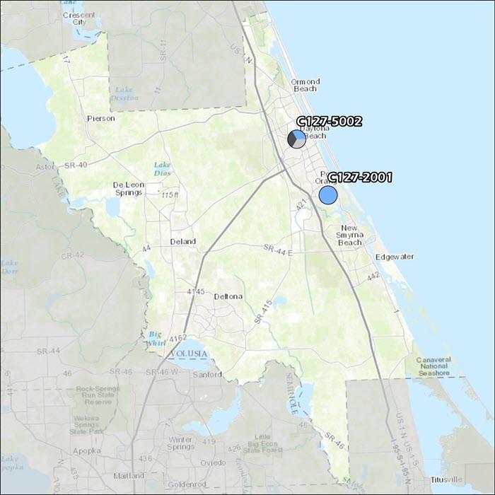 Volusia County Air Monitoring Map