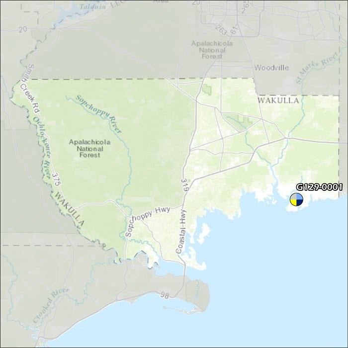 Wakulla County Air Monitoring Map