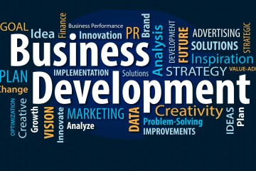 Business Development Words Banner