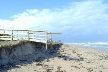 Florida Geological Survey Ramp Access after Beach Erosion in Volusia County, 2004